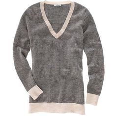 herringbone sweater ($75) ❤ liked on Polyvore featuring tops, sweaters, women, madewell sweaters, madewell, pattern sweater, print top and pattern tops
