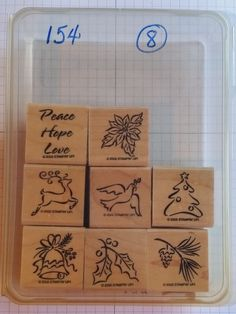 Stampin' Up! HOLIDAY MINIS poinsettia reindeer dove holly pine cone Christmas #StampinUp