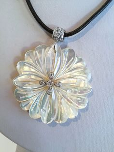 Luminous Carved Mother of Pearl and Sterling by WOWTHATSBEAUTIFUL