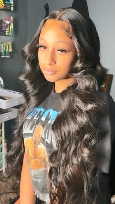 Black Girls Hairstyles, Straight Hairstyles, Sew In Hairstyles, Lace Body, Long Hair Styles, Natural Hair Styles, Lace Wigs, Lace Front Wigs, Body Wave Wig