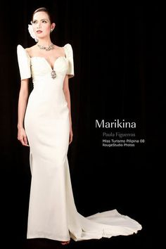 This is a traditional Filipino wedding dress. I'm going to wear a traditional Filipino Wedding Dress similar to this one and similar to my mother Prima's traditional Filipino wedding dress. Filipiniana Wedding Theme, Modern Filipiniana Dress, Philippines Dress, Philippines Fashion, Bridal Gowns, Wedding Gowns, Filipino Wedding, Traditional Dresses, Asian Fashion