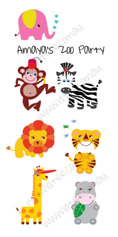 just finished designing animals for Amaya's Zoo party invites might have to add to Idtee range they are so sweet.