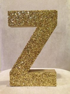 glitter stand up letter wedding home decor by zoeyelisa on etsy