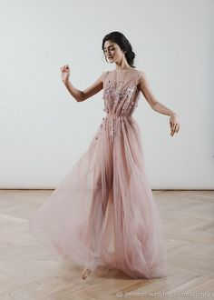 Tulle wedding dress Poesia blush wedding gowns open back boudoir dress rose lace bridal dress boho wedding dress unique wedding dresses Tulle Wedding, Bridal Lace, Boho Wedding Dress, Bridal Dresses, Wedding Gowns, Rose Wedding, Long Sleeve Wedding, Wedding Dress Sleeves, Tulle Dress
