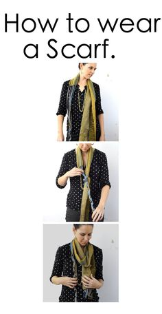 Click here for tips on how to wear a scarf or shawl with Amber Kane.  http://amberkane.com/2013/11/11/wear-shawl/