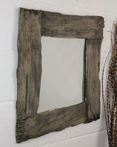Fairtrade Solid Wooden rustic Antique Plank Mirror 60cm | Fair Trade Gift Store | Siiren £49.99