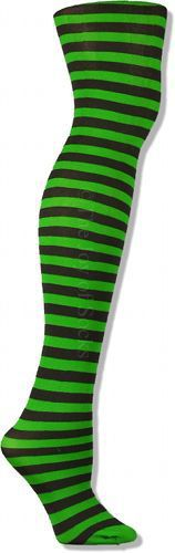 The Joy of Socks - Black and Kelly Green Striped Tights, $5.00 (http://www.joyofsocks.com/black-and-kelly-green-striped-tights/)