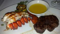 Lobster and filet mignon from mortons in cleveland 7/13