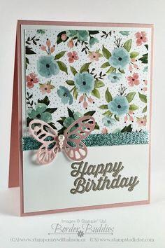 Birthday Bouqet Designer Paper & Bold Butterflies Framelits
