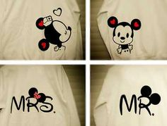 Mickey and Minnie Mouse Couple Tshirts by Camdaro on Etsy. , via Etsy.