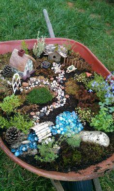 My wheelbarrow fairy garden for the garden tour :)