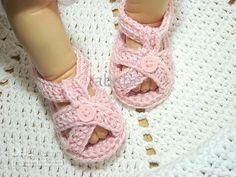 Kinder de ganchillo zapatos de bebé lactante sandalias botónpearl ...