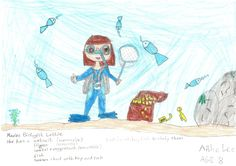 Lottie Outfit Design Competition - Aibhe (8), Ireland, has created a fantastic Marine Biologist outfit for Lottie. We think this is just fantastic! We think Lottie would love this outfit too! Great stuff Aibhe Lee!