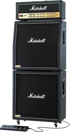 Marshall JVM410H, 1960AV, and 1960BV Tube Guitar Full Stack  Left-facing