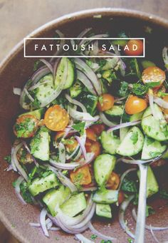 Fattoush Salad // The Kitchy Kitchen INGREDIENTS 1 large cucumber (thin skinned), halved and sliced 1/8 inch thick 1 1/2 cups cherry tomatoes, halved 1/2 red onion, thinly sliced 1/2 teaspoon dried oregano 1/4 teaspoon dried thyme 1/4 teaspoon chili […]
