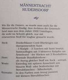 Männertracht Rudersdorf Beschreibung Personalized Items, Fashion Styles