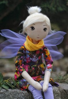 handmade doll #handmadedoll #doll Painted face/fairy