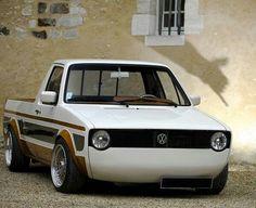 Pick up Caddy Golf Vw Rabbit Pickup, Vw Pickup, Volkswagen Golf Mk1, Vw Mk1, Vw Caddy Mk1, Jetta A2, Combi Vw, Mini Trucks, Pickup Trucks