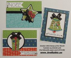 THANK YOU for stopping by to enjoy our   October Stamp of the Month Blog Hop   featuring this month's SOTM:   Yuletide Joy S1610   If you'v...