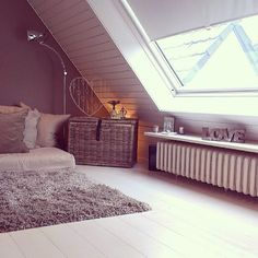 Great cozy attic space. What a fantastic spot to read or take a nap.