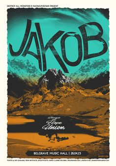 Gig poster by Or8 Design for Jakob's Leeds show