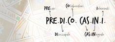"""PRE.DI.CO. CAS.IN.I. è un acronimo e sta per """"precari, disoccupati, collaboratori, cassintegrati e interinali"""".  PRE.DI.CO. CAS.IN.I. è una pagina FB e un canale YouTube e tratta il tema del (non) lavoro in modo ironico e disimpegnato!  FB: www.facebook.com/predicocasini YOUTUBE: www.youtube.com/allegraguardi TWITTER: @AlleGuardi #predicocasini"""