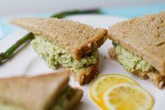Lemon Jalapeno Asparagus Cashew Salad Sandwiches
