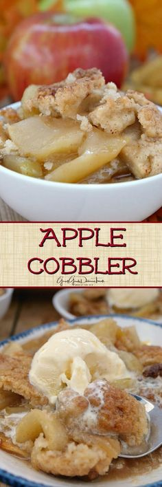 This Apple Cobbler recipe is made with juicy Honeycrisp apples and Granny Smith apples, topped with a crunchy topping and seasoned just right. FOR Apple C sugar, Brown sugar Healthy Apple Desserts, Apple Recipes Easy, Apple Dessert Recipes, Pecan Recipes, Pastry Recipes, Baking Recipes, Delicious Desserts, Apple Snacks, Potluck Recipes