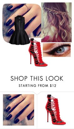 """""""going in a date"""" by meriem-asma ❤ liked on Polyvore featuring Lottie, Giuseppe Zanotti and Lavinia Cadar"""