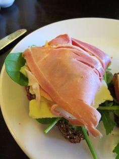 A simple open faced ham sandwich in Cork City   Cork Eats - Serendipity Cafe ~ Sidewalk Safari