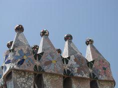 Chimney detail - Gaudi's Casa Batllo, Barcelona (Photo: Len Mc Cuen 2015)