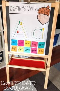 Interactive Alphabet Anchor Charts for Kindergarten - Teaching - Kindergarten Anchor Charts, Kindergarten Literacy, Preschool Learning, Kindergarten Classroom, Teaching Abcs, Welcome To Kindergarten, Beginning Of Kindergarten, Teaching Career, Teaching Writing
