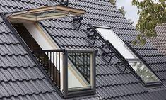 Skylight Loft Conversion London with Velux Balcony Window
