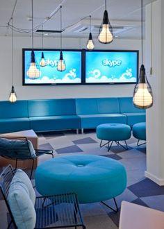 Locais de trabalho modernos e criativos