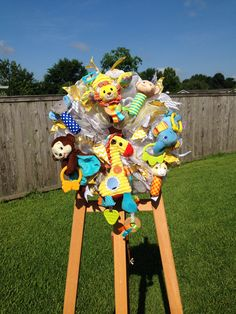 Wreath I made for my cousin baby shower