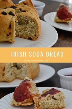 Hearty, sweet and simple, this Irish soda bread recipe is sure to be a hit, paired with strawberry jam as a side to Irish Stew! Celebrate St. Patrick's Day in style!