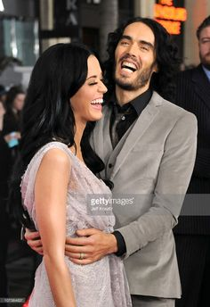 Singer Katy Perry (L) and comedian Russell Brand arrive at the Los Angeles premiere of 'The Tempest' held at the El Capitan Theatre on December 6, 2010 in Hollywood, California.