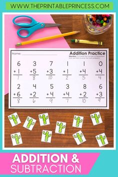 We spend so much time practicing horizontal addition and subtraction, but it's important to expose students to math problems presented vertically. This resource includes 24 no prep activity pages to help students practice addition and subtraction within 10, presented in a vertical orientation.
