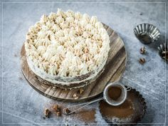 Christmas Carrot Cake with Ginger-Frosting Savoury Baking, Carrot Cake, Camembert Cheese, Frosting, Carrots, Sweet, Desserts, Christmas, Food