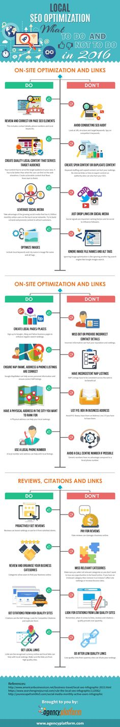 Local SEO optimization: what to do and not to do in 2016 - #infographic