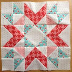 Fat Quarter Shop's 2012 Designer BOM Block 10 - love the color balance