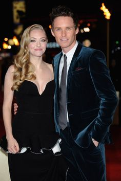"LONDON, ENGLAND - DECEMBER 05: Actors Amanda Seyfried and Eddie Redmayne attend the ""Les Miserables"" World Premiere at the Odeon Leicester Square on December 5, 2012 in London, England"