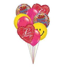 Send more smiles and more love with birthday wishes. This large bouquet is excellent combination of pretty pink latex balloons and mylar balloons with smile, love and birthday wishes which will make it best. An adorable gift to cherish memorable moment. Order Balloons, Send Balloons, Balloons Online, Happy Birthday Balloons, Mylar Balloons, Latex Balloons, Birthday Wishes, Ballons, Birthday Balloon Delivery