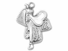 Show off a saddle charm to create the Western feeling of horseback riding
