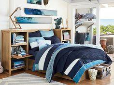dormitorio para adolescentes para chicos con camas de madera