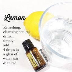 Lemon doTERRA essential oil!! Naturally cleanses the body and aids digestion / supports healthy respiratory function / promotes a positive mood . Essential oils. Doterra.