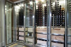 Wine storage Minto stainless refrigerator
