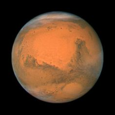 Mars during its closest approach in 2007    http://hubblesite.org/newscenter/archive/releases/solar-system/2007/45/
