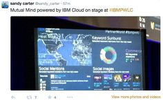 Sandy Carnter tweets about IBM EC powered by MutualMind
