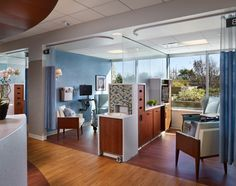 Beautiful patient area at Central DuPage Hospital Cancer Center, by rtkl. http://www.rtkl.com/Projects/#